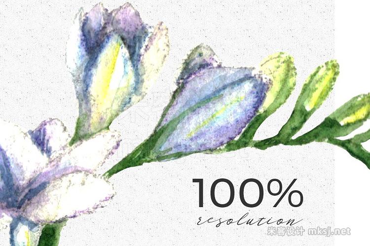 png素材 Wedding Watercolor Tulips Set