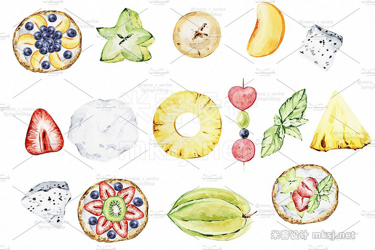 png素材 Summer party Exotic tropical fruit