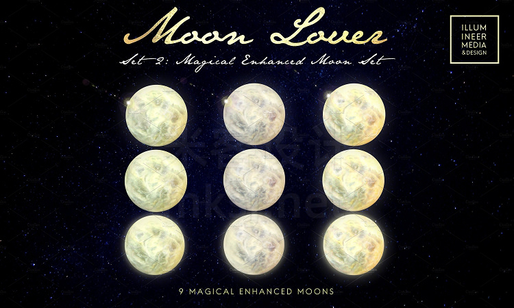 png素材 MOON LOVER MAGICAL MOON PNG OVERLAYS