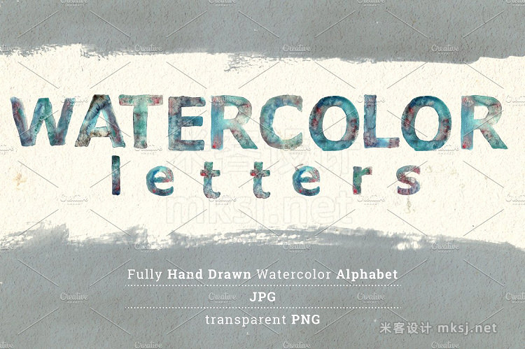 png素材 Watercolor Letters
