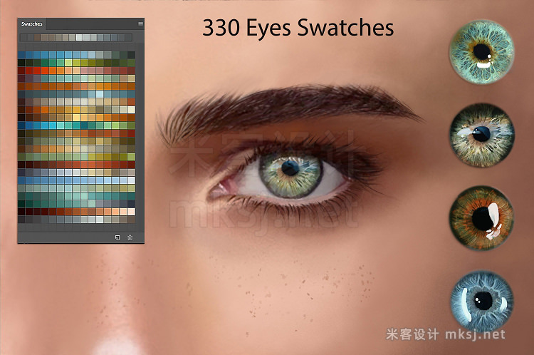 png素材 Eyes Swatches for Digital Painting