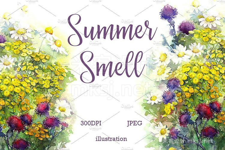 png素材 SALE Watercolor summer smell