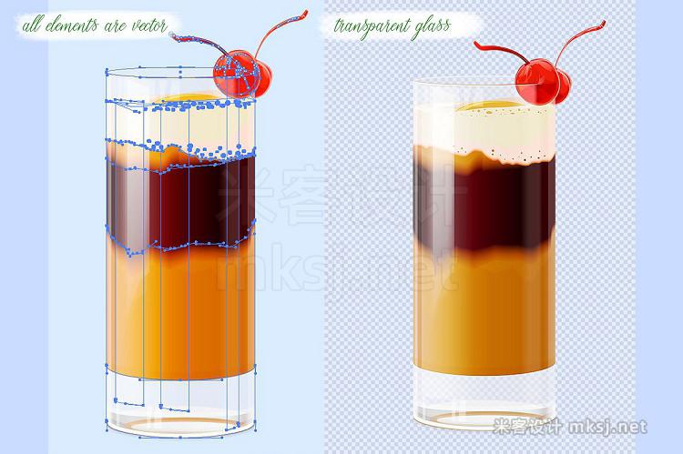 png素材 Summer cocktails