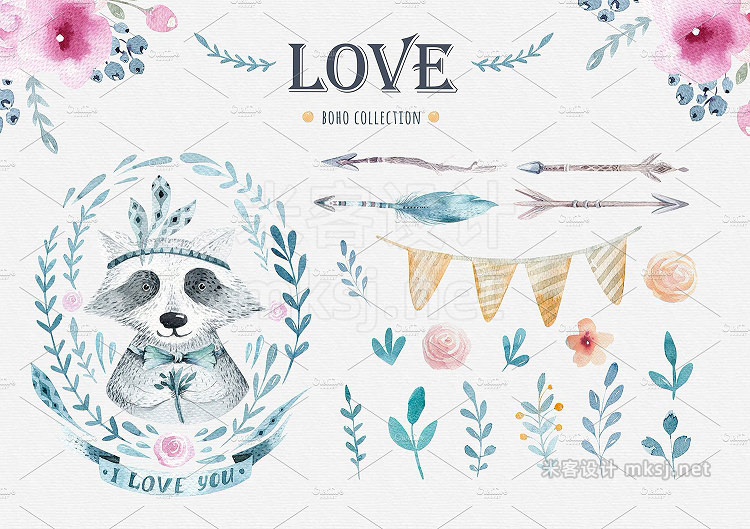 png素材 Love raccoon collection