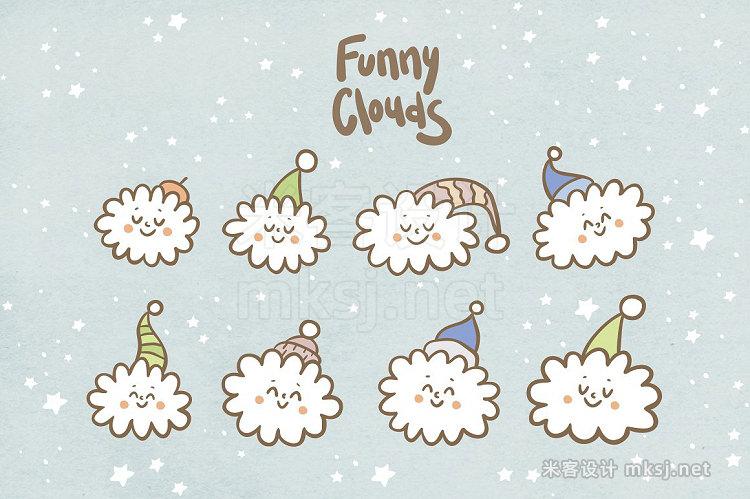 png素材 Cute stars and clouds
