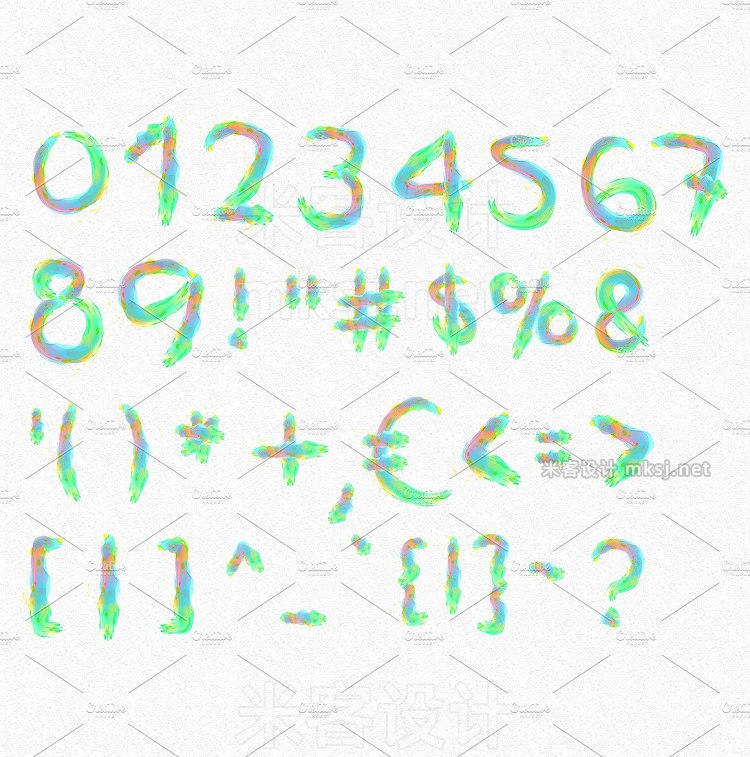 png素材 Watercolor Alphabet