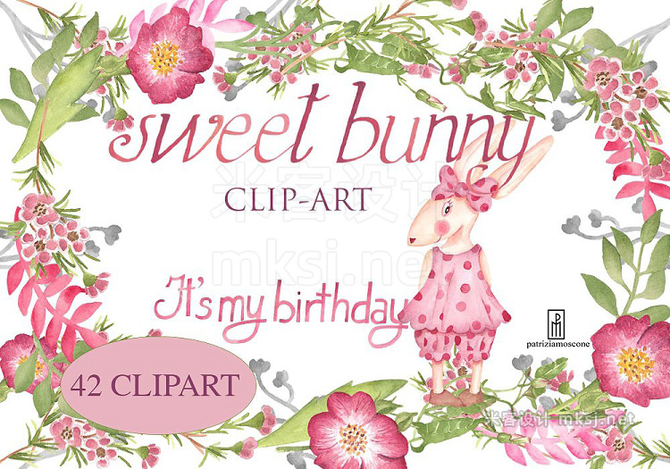 png素材 Sweet bunny (It's my birthday)