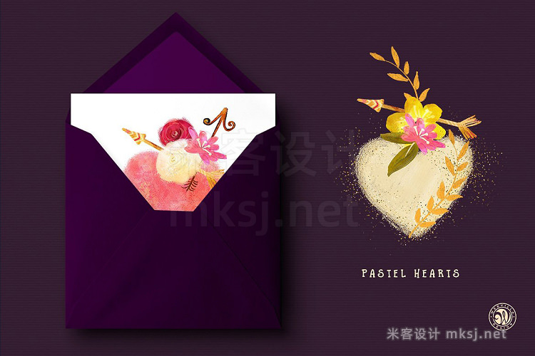 png素材 Pastel Hearts