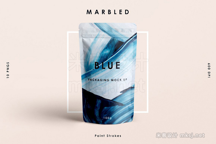 png素材 Blue Marbled; Paint Strokes