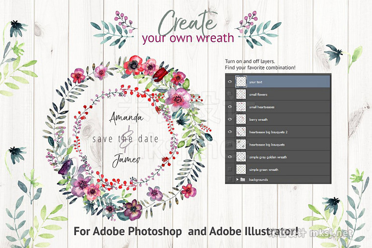 png素材 Heartsease Wreath Creator