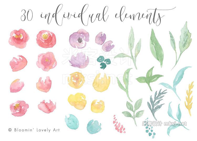 png素材 Watercolor Flower Clip Art - Florals