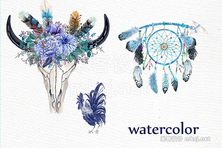 png素材 Watercolor tribal clipart