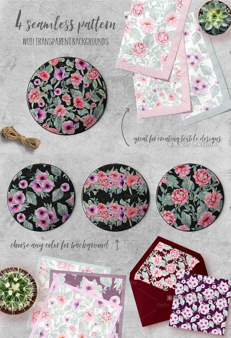 png素材 Watercolor Flower clipart graphic