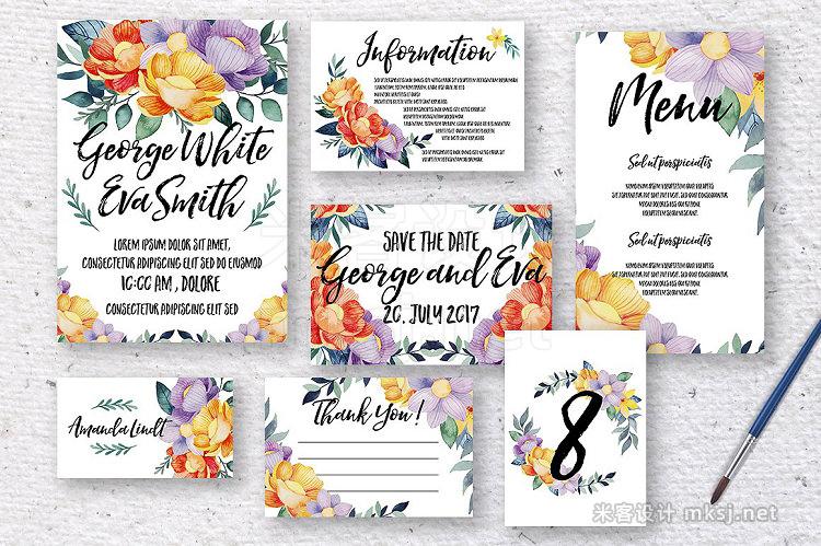 png素材 Rosaleen wedding invitation kit