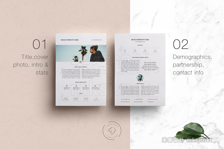 png素材 Media Kit Template - 2 Pages