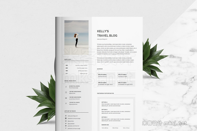 png素材 Blog Media Kit - 1 Page