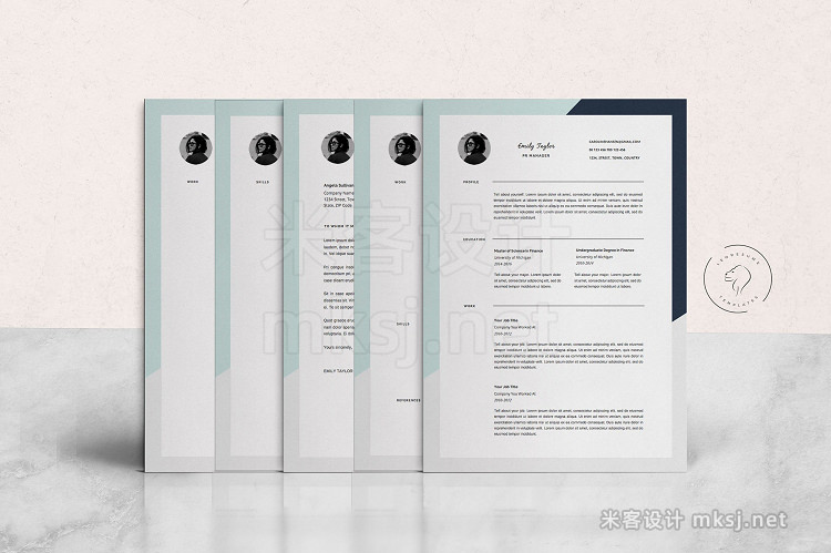 png素材 Professional Resume Template