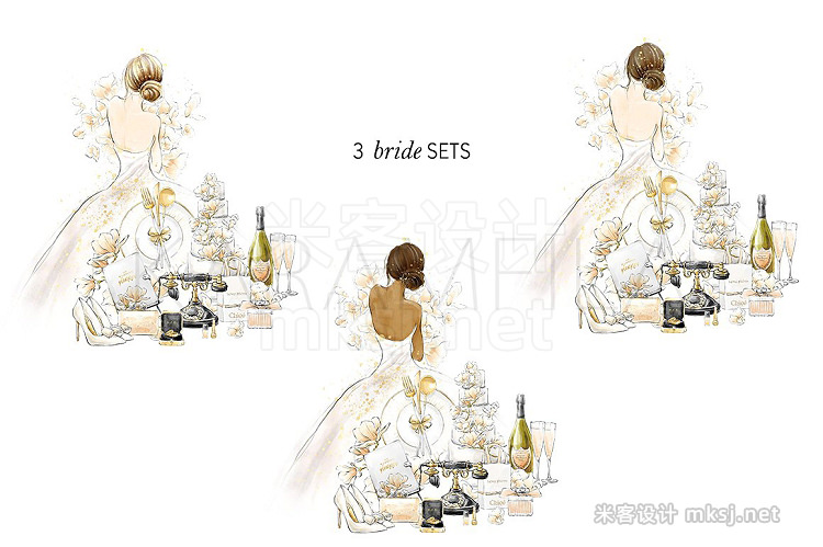 png素材 Wedding Clipart Bride Groom