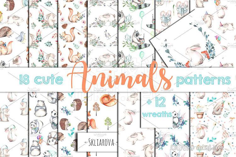 png素材 Animals Patterns  Wreaths