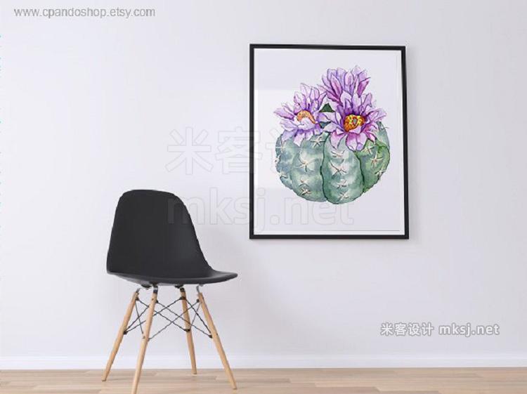 png素材 Cactus watercolor clip art
