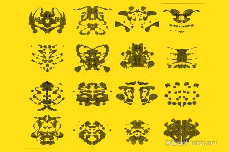 png素材 16 Inkblot Textures
