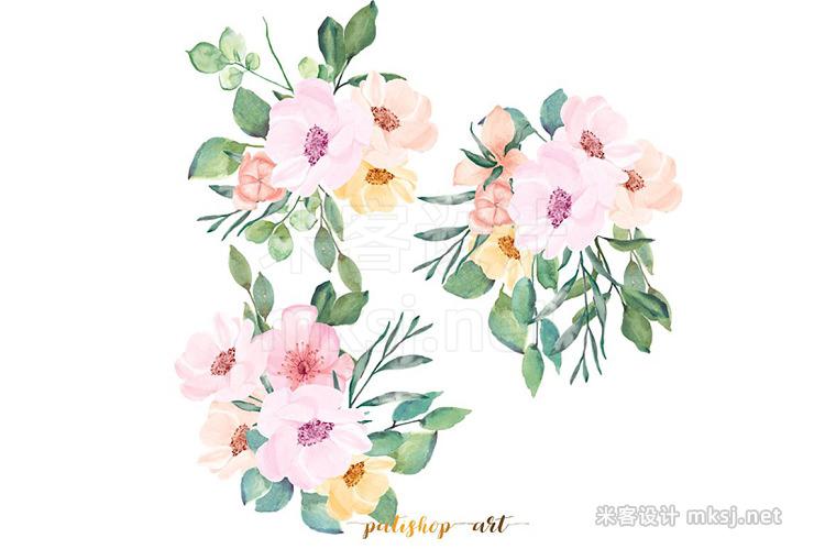 png素材 Watercolor Wild Rose Clip Art