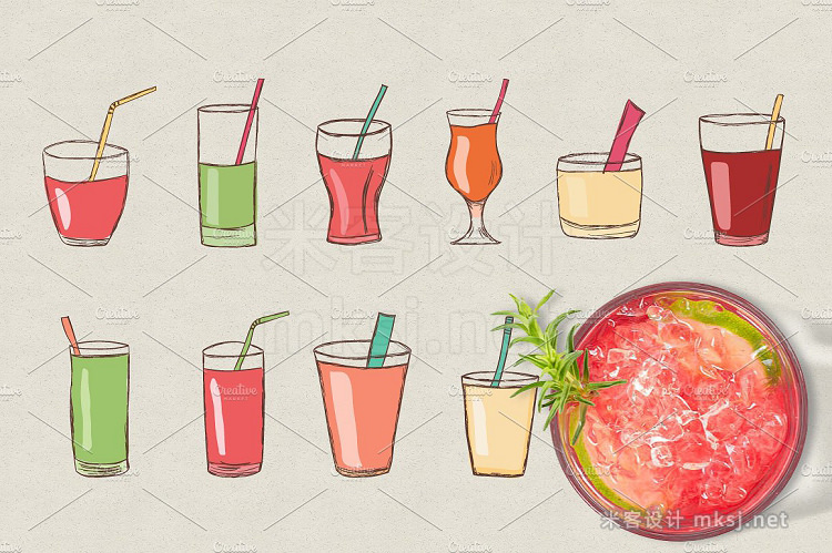 png素材 Fruits and juices