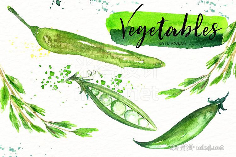 png素材 Vegetables Watercolor clipart
