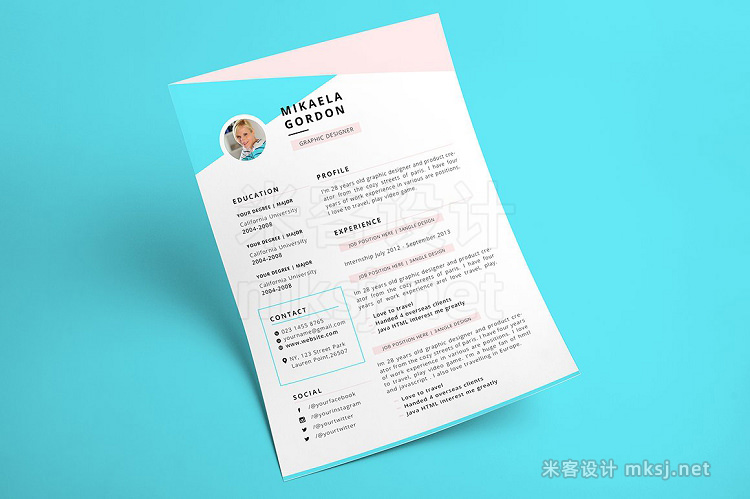 png素材 Resume CV - Gordon