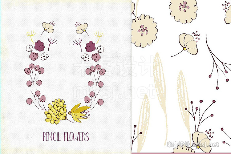 png素材 Pencil Flowers