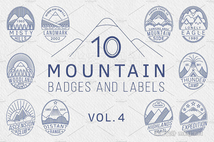 png素材 Mountain Badges vol4