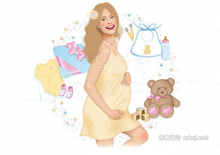 png素材 Baby Shower Digital Clip Art
