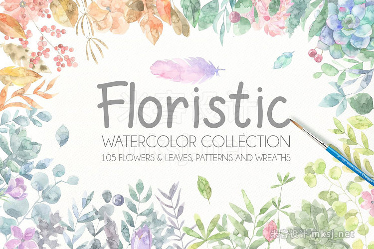 png素材 Floristic Watercolor Collection