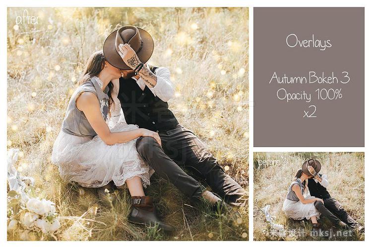 png素材 30 Autumn Bokeh Overlays