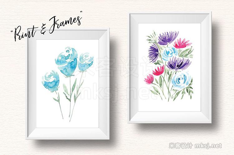 png素材 32 Watercolour Flower Bouquets