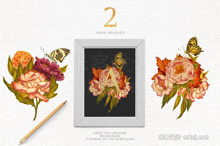 png素材 Flowers Butterflies - Clipart