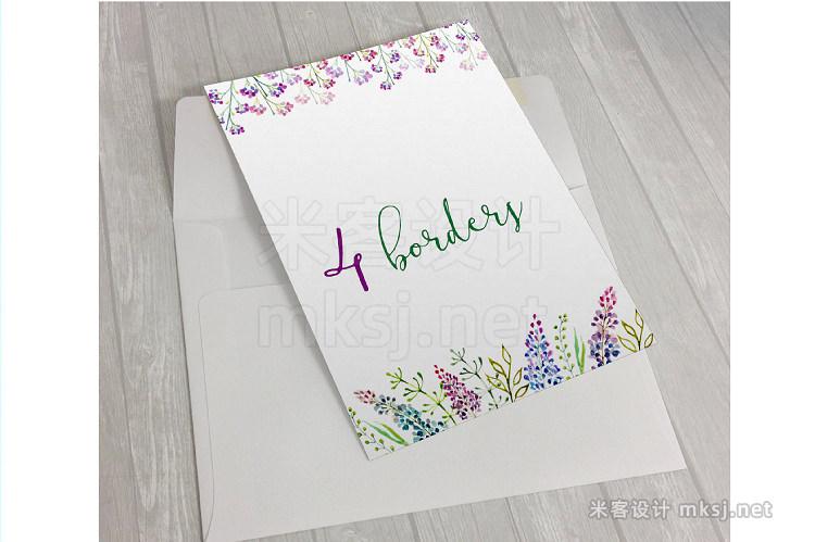 png素材 Lavender watercolor clipart flower