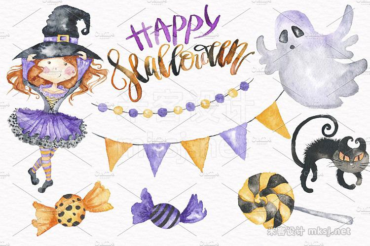 png素材 Halloween Watercolor Illustrations