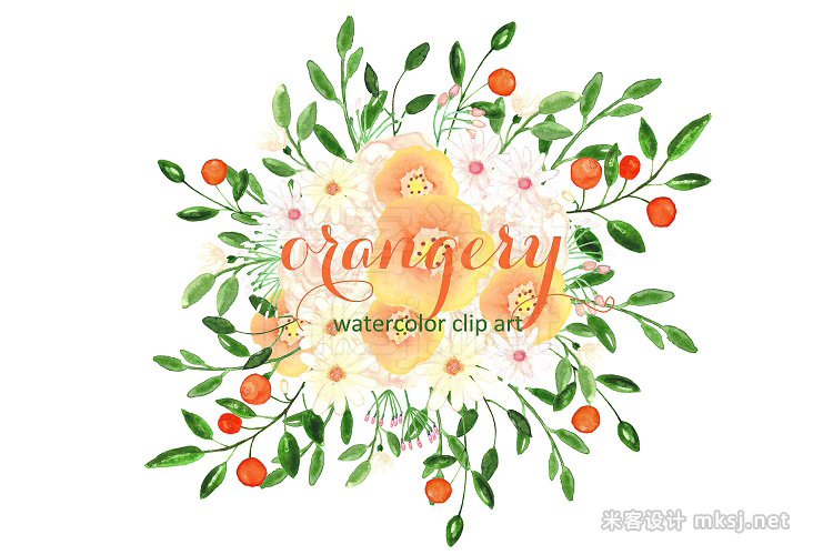 png素材 Orangery Watercolor clip art
