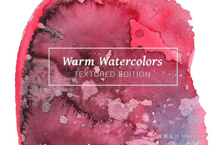 png素材 Warm Textured Watercolors
