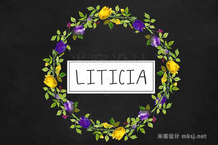 png素材 Purple Violet Flowers Clipart Set