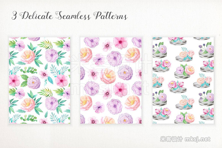 png素材 Shabby Chic Watercolor Pack