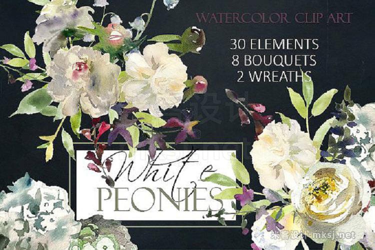 png素材 Watercolor Floral Graphic Bundle