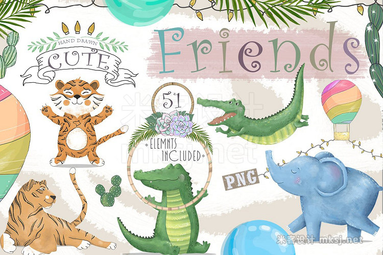 png素材 Cute Friends Graphic animals
