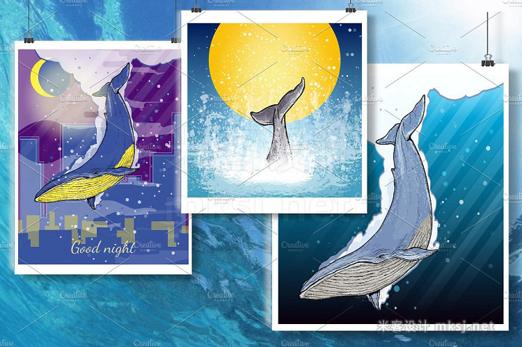 png素材 Whale collection