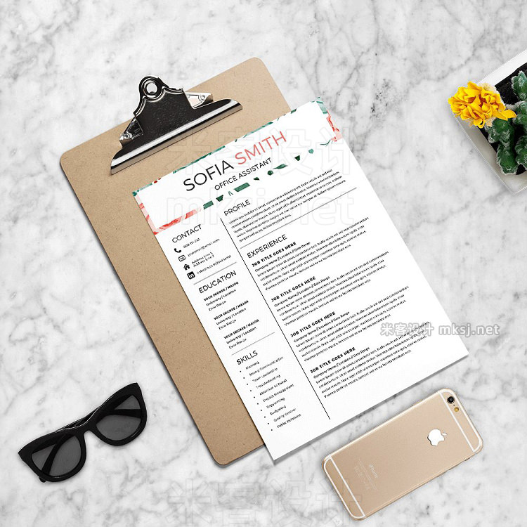 png素材 Female Resume Template