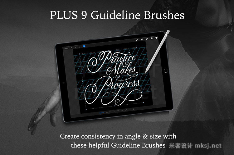png素材 14 iPad Brushes for Procreate
