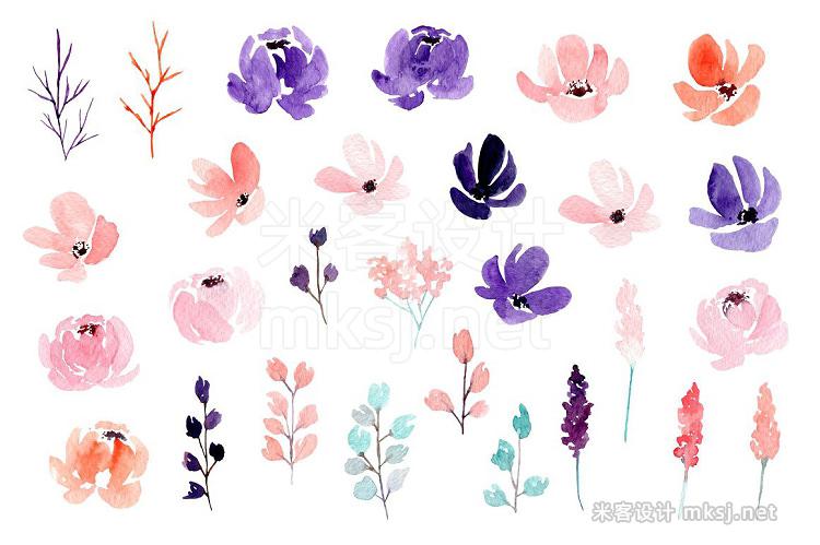 png素材 Summer Breeze - Watercolor flowers
