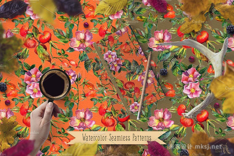 png素材 Pheasant in Rosehip Patterns