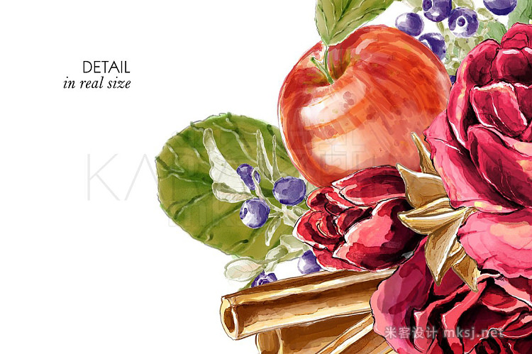 png素材 Cinnamon and Apples Clipart